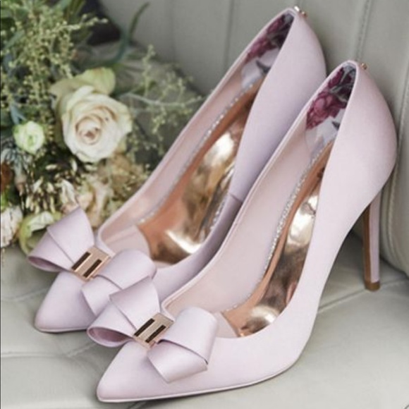 71622784606 Ted Baker Skalett Pink Bow Heels - Size 9. M 5c2a71b9409c1598cbfe25f8